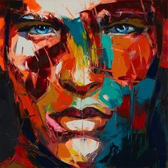Francoise Niellyis an amazing French artist renowned for her colourful and vibrant close-up portraits.