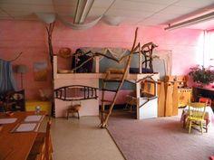 THIS play loft! found in a waldorf kindergarten room
