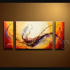 Enchanting Modern Abstract Painting Artist Oil Painting For Bed Room Abstract. This 3 panels canvas wall art is hand painted by Bo Yi Art Studio, instock - $135. To see more, visit OilPaintingShops.com