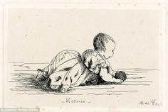 Queen Victoria's sketches of her family - Princess Royal Victoria