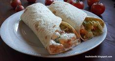 Wrap czyli tortilla z kurczakiem i warzywami Fresh Rolls, Tacos, Mexican, Pizza, Cooking, Breakfast, Ethnic Recipes, Food, Baking Center