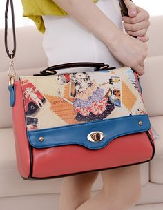 $13.78 New Fashion Buckle Opening Printing Shoulder Bag