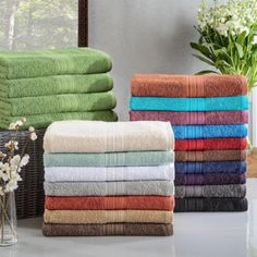 Superior Eco Friendly Cotton Soft and Absorbent Bath Towel (set of 4) Coral