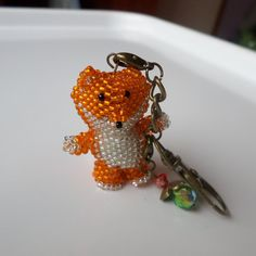 Beaded Fox made by fine Toho seed beads with by BranchBeads