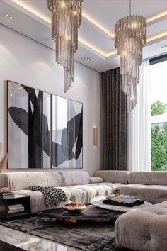 Classy Living Room, Living Room Modern, Living Room Interior, Living Room Designs, Living Room Decor, Living Area, Luxury Home Decor, Luxury Interior, Luxury Furniture