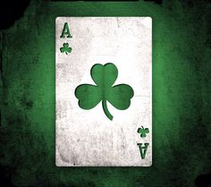 Green ace of clubs