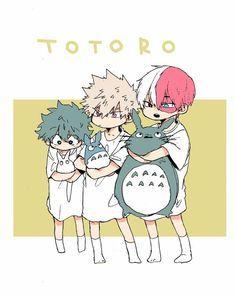 Studio Ghibli/My Neighbor Totoro x My Hero Academia My Hero Academia Shouto, My Hero Academia Episodes, Hero Academia Characters, Hero Wallpaper, Cute Anime Wallpaper, Bakugou And Uraraka, Anime Lindo, Anime Crossover, Cute Anime Guys
