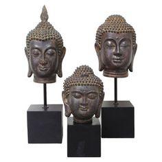 3 Piece Buddha Finial Set