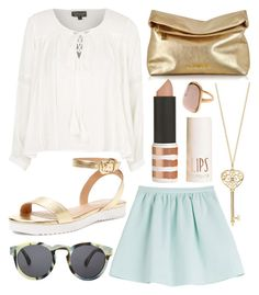 """""""Untitled #477"""" by daimy-style ❤ liked on Polyvore featuring Tara Jarmon, Topshop, Elorie, Michael Kors and Illesteva"""