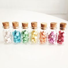 Small bottle of Lucky Star Bottle Jewelry, Bottle Charms, Bottle Necklace, Cute Crafts, Diy And Crafts, Crafts For Kids, Mini Glass Bottles, Small Bottles, Pinterest Diy Crafts