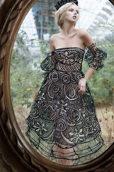 Magnificent Mirror reflection painted dresses for girls
