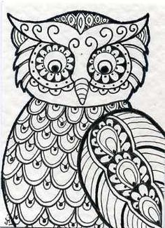 owl coloring pages for adults - Google Search                                                                                                                                                                                 More