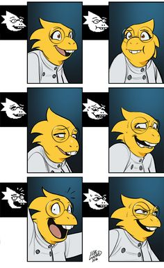 Radioactive1713 - supernormalstep:   I colored my Undyne faces and...