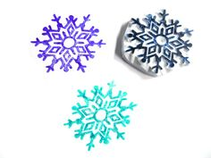 Fancy Snowflake Hand Carved Rubber Stamp by SweetSpotStampShop