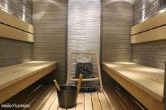 VALONTALO : HARMAA HURMAA Laundry Room Bathroom, Bathroom Toilets, Bathrooms, Sauna Design, Spa Rooms, Sweet Home, Bathtub, Saunas, Inspiration