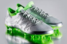 adidas X 15.1 FG Eskolaite - Soccer Cleats - Firm Ground - Silver Metallic  Solar Green Core Black 59cb4d8d74026