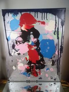 ABSTRACT CANVAS PAINTING BY MUSK YAI 16x20 ONE OF A KIND SUBLIME 2014 ~ #WILD