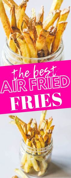 Dinner Recipes for family The Best Easy Air Fryer French Fries Recipe - Sweet Cs Designs Die besten Easy Air Fryer Pommes Frites Rezept - Sweet Cs Designs Air Fryer Fries, Air Fryer French Fries, Air Fryer Sweet Potato Fries, Air Fryer Baked Potato, Air Fryer Recipes Potatoes, Air Fryer Oven Recipes, Air Fryer Recipes Vegetables, Potato Recipes, Veggies