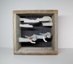 night flight II diorama hand embroidery for by MarysGranddaughter, $425.00