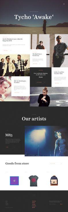 Record Label Website Record Label Website - Homepage by Jaromir Kveton Interface Web, User Interface Design, Creative Web Design, Web Ui Design, Graphic Design, Website Layout, Web Layout, Site Inspiration, Site Vitrine
