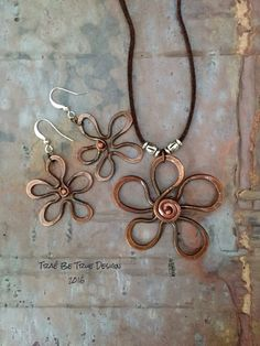 Copper Summer Flower by Traebetruedesign on Etsy