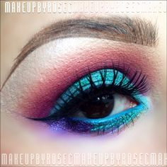 Colorful make up @ rosie_pops