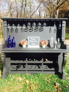 Repurposed Piano Bar turned wine. barhttps://www.facebook.com/RustyElengance/