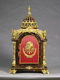 A LARGE GILT-MOUNTED TURTLESHELL MUSICAL TABLE CLOCK FOR THE TURKISH MARKET, THE CASE ENGLISH, LATE 18TH CENTURY; THE MOVEMENTS FRENCH 20TH CENTURY
