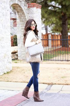 Camel And White Faux Fur Vest  # #The Sweetest Thing #Winter Trends #It-Girl #Best Of Winter Apparel #Vest Faux Fur #Faux Fur Vests #Faux Fur Vest Camel And White #Faux Fur Vest How To Wear #Faux Fur Vest 2015 #Faux Fur Vest Where To Get #Faux Fur Vest How To Style