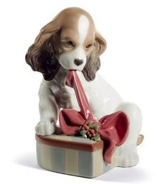 Lladro Can't Wait! Christmas. #Lladro #Statue #Sculpture #Decor #Gift #gosstudio .★ We recommend Gift Shop: http://www.zazzle.com/vintagestylestudio ★