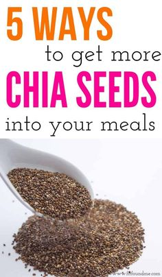 Chia seeds can be used in a variety of ways to benefit your health and weight loss. Chia seed pudding, chia seeds in overnight oats, with so many great health benefits. Add them to your daily meals with these 5 ways! Smoothie Mix, Homemade Granola Bars, Eating Raw, Daily Meals, Everyday Food, Chia Seeds, How To Dry Basil, 5 Ways, Healthy Living