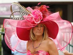 Elena's hat. Outrageous pink hat | Outrageous Hat Styles for Curly Hair. www.mysticalemona.com