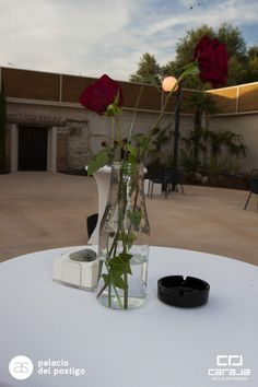 Detalle decoración exterior Glass Vase, Table Decorations, Plants, Furniture, Home Decor, Dance Rooms, Gardens, Decoration Home, Room Decor
