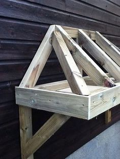 Timber Front Door Canopy Porch Bespoke Hand Made Porch & Timber Front Door Canopy Porch Bespoke Hand Made Porch Light ...