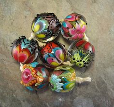 Kali's Fire Lampwork Bead Set. $85.00, via Etsy.