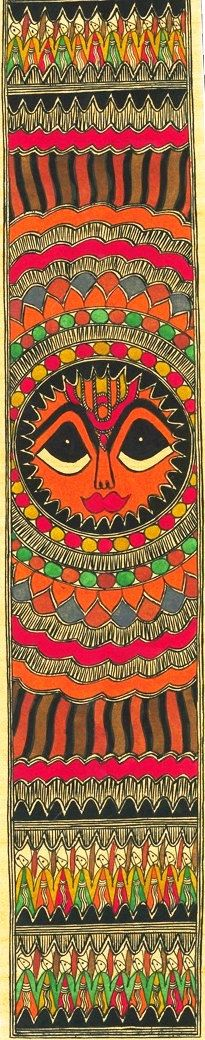 Traditional Indian Madhubani painting... One of my favorites...