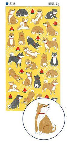 "Kawaii ""Shiba Inu"" Planner/ Scrapbook/ Gift Wrapping Washi Paper Decor Stickers. by niconecozakkaya on Etsy"