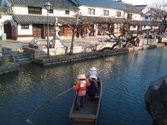 倉敷美観地区と川舟