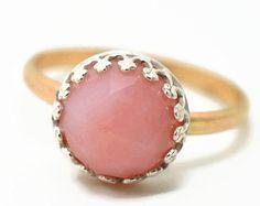 Peruvian Pink Opal Ring, 14K Gold Fill Ring