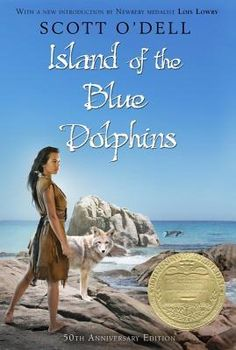 Island of the Blue Dolphins by Scott O'Dell AUD FIC ODE (3 Cassettes) Records the courage and self-reliance of an Indian girl who lived alone for eighteen years on an isolated island off the California coast.