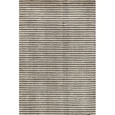 Found it at Wayfair - Cut Stripe Knotted Grey Area Rug
