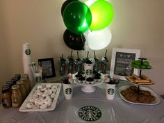 Starbucks Birthday Party, Church Crafts, Table Settings, Place Settings, Tablescapes
