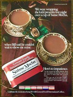 1983 General Foods International Coffees Christmas PRINT AD Suisse Mocha | eBay Vintage Ads Food, Kool Aid Man, International Coffee, Christmas Print, Presents For Kids, Instant Coffee, Print Ads, Tis The Season, Coffee Drinks