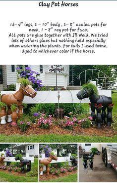 clay pot horse planter   https://m.facebook.com/stefanie.butler.7/albums/1206430339383151/?_rdr