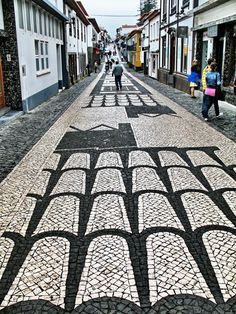 TERCEIRA (AZORES ISLANDS) and its unique cobblestone Walkways #Portugal - by Guido Tosatto