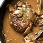 One of my favourite steak sauces - a creamy Peppercorn Sauce made with brandy or cognac, beef broth, cream and plenty of crushed peppercorns. A steakhouse classic, this creamy pepper sauce with juicy steak is Beef Recipes, Cooking Recipes, Recipies, Turkey Steak Recipes, Meatloaf Recipes, Salisbury Steak Recipes, Oven Baked Salisbury Steak Recipe, Recipetin Eats, Mushroom Gravy