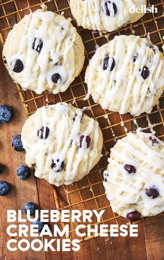 Get Ready To Bake These Blueberry Cream Cheese Cookies All Spring Long – Great Recipes Blueberry Cookies, Blueberry Recipes, Blueberry Jam, Köstliche Desserts, Delicious Desserts, Yummy Food, Health Desserts, Dessert Recipes, Cupcakes