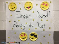 How to Use a Classroom Theme to Motivate Students on Standardized Tests (Emoji Standardized Testing Motivation Poster)— The Carly and Adam Blog