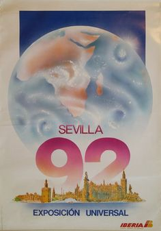 1992 Iberia Airlines Expo'92 Sevilla Travel by OutofCopenhagen