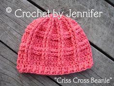 Crocheting: Criss Cross Beanie